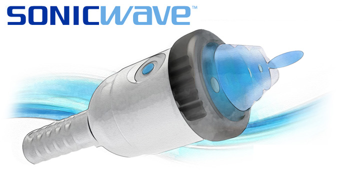 SONICWAVE™ is a shockwave treatment operating on low frequency sound waves